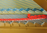 Strings of a grand piano poster