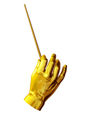 Gesture of a conductor-hand position
