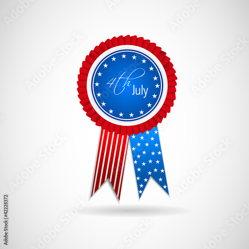 4th July Vector Ribbon.