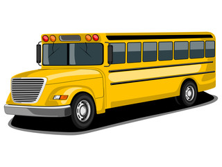 Illustration of retro yellow Bus. EPS 10.