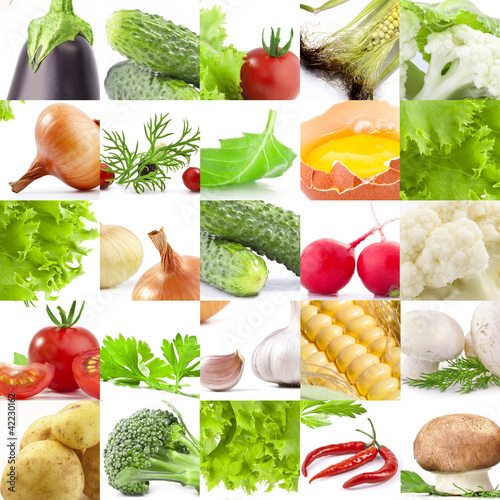 Collection of vegetables, background