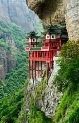 Chinese temple in mountainside