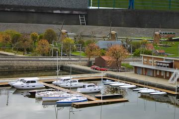 Miniature Yacht Club in Madurodam. The Hague, Netherlands