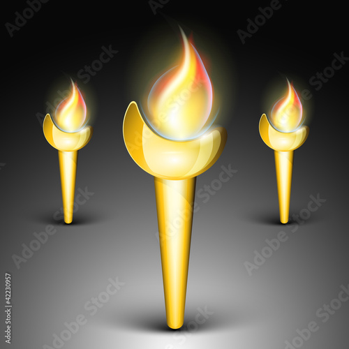 Vector element of flaming torch . EPS 10.