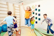 Leinwandbild Motiv children enjoying gym class
