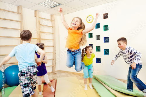 children enjoying gym class