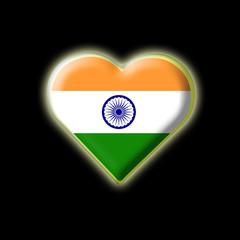 Coeur drapeau indien