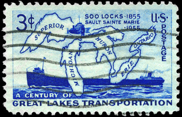 USA - CIRCA 1955 Great Lakes