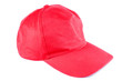 Red sport hat isolated