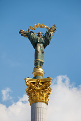 The Independence monument in Kiev, Ukraine, Europe