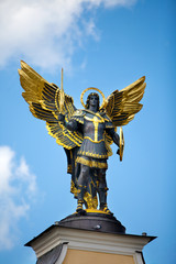 Monument of Angel in Kiev, independence square