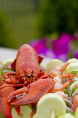 Mr Lobster and shrimp skewers