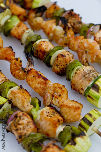 Salmon Fish Skewers