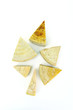 slices of cheese-shaped leaves, similar to Christmas tree