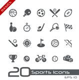 Fototapety Sports Icons // Basics