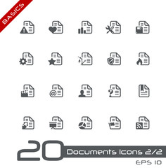 Documents Icons - Set 2 of 2 // Basics