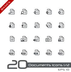 Documents Icons - Set 1 of 2 // Basics