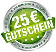 """Button Banner """"25 € Gutschein"""" grün/silber"""