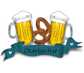 Oktoberfest, Bier und Brezel