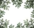 Rahmen aus verschneiten Tannenzweigen