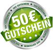 """Button Banner """"50 € Gutschein"""" grün/silber"""