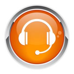 bouton internet casque audio sav icon.