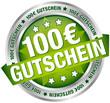 """Button Banner """"100 € Gutschein"""" grün/silber"""