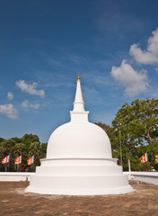Small white stupa in Anuradhapura, Sri Lanka