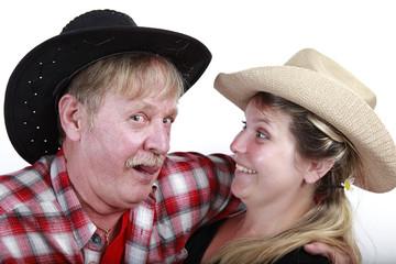 Cowboy mit seinem Cowgirl
