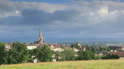 Autun cathedral in Burgundy