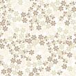 бесшовный фон из белых и бежевых цветов, Print