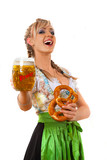 Dirndl, Bier, Brezel, Stimmung
