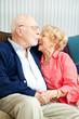 Senior Couple Flirting and Laughing