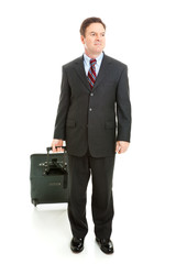 Full Body View of Business Traveler
