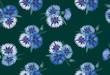 бесшовный цветочный фон из васильков, print
