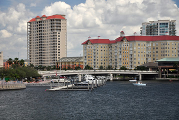 Downtown Tampa along the Hillsborough River