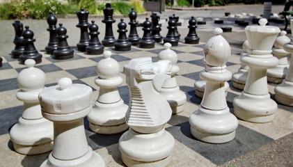 Outdoor chessgame, Bastions Park, Geneva, Switzerland