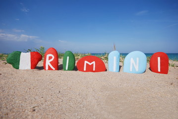 Rimini, souvenir on colourful stones