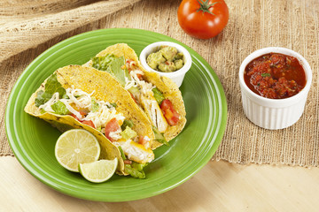 Homemade fresh fish tacos