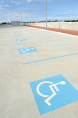 Car park for disabled