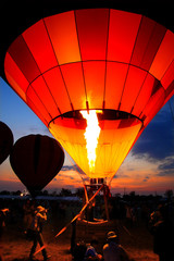 Colorful Hot Air Balloons, Balloon festival in thailand