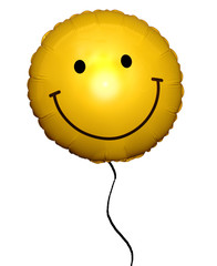 Smiley Face Helium Balloon