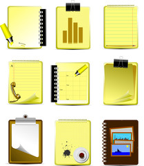 Vector Nine Office and Business icons. Help for designers and we