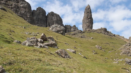 Timelapse of Old Man of Storr Isle of Skye Scotland