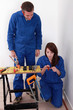 Plumber and his female apprentice