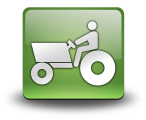 "Green 3D Effect Icon ""Tractor"""