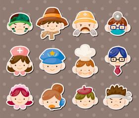 people job face stickers