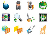 Internet security icons  (EPS 10,includes transparency)