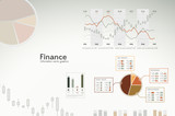 Finance infographics - icons, graphs, charts and statistics