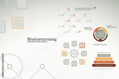 Brainstorming infographics - ideas, graphs, charts and statistic